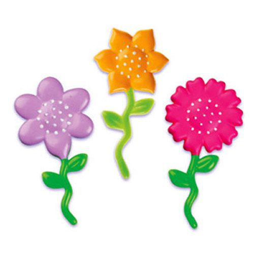 24 Flower 2 Cupcake Picks Cake Toppers by CakeAndCandyDreams