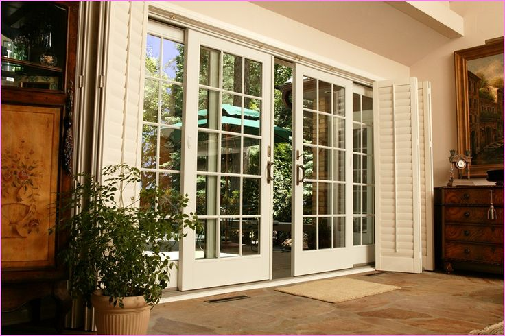 1000 ideas about sliding patio doors on pinterest for Sliding glass door with sidelights