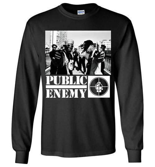 Public Enemy, Chuck D, Flavor Flav,Terminator X, Classic Hip Hop , Gildan Long Sleeve T-Shirt , v1