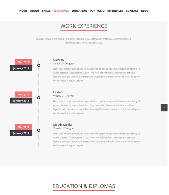 this resume and cv joomla theme comes with a filterable portfolio a bootstrap framework - Resume Cv Joomla Template