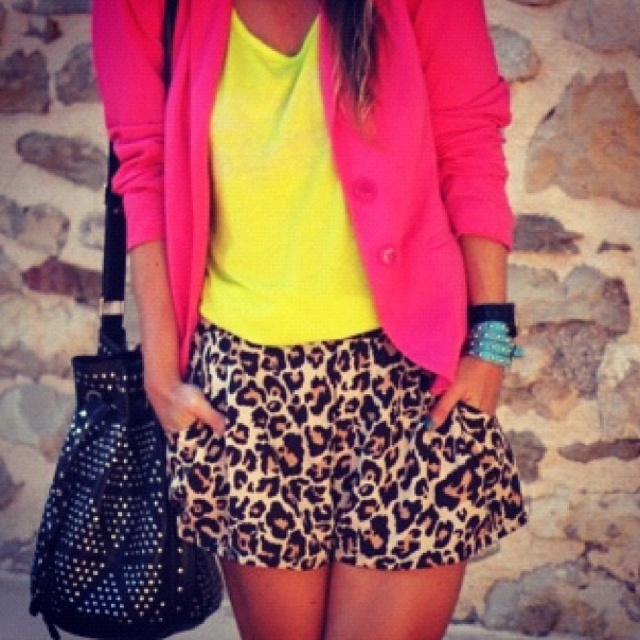 Leopard and neon!!: Cheetah, Fashion, Style, Dream Closet, Bright Color, Neon, Outfit, Animal Prints, Leopard Prints