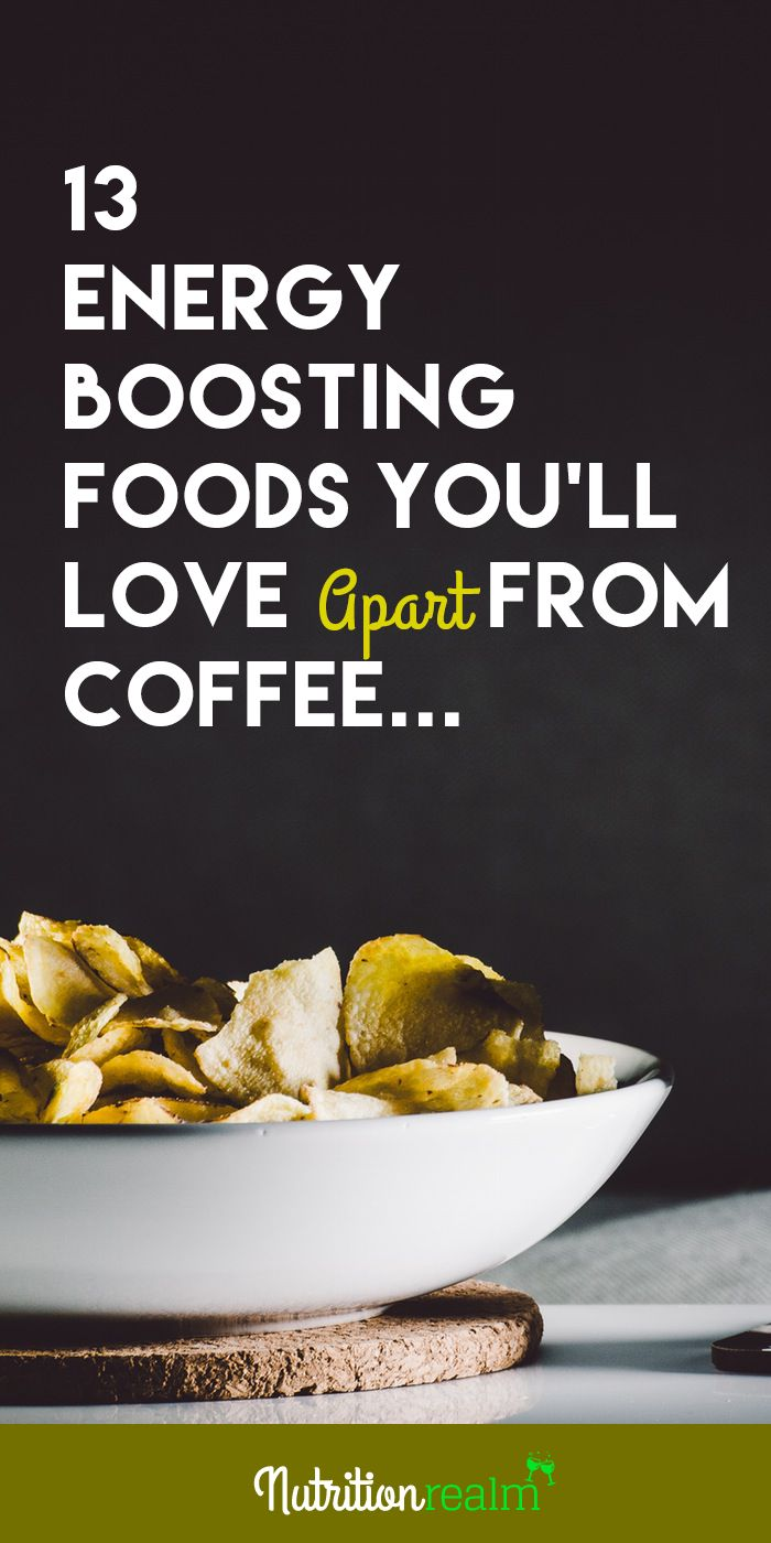 If you're thinking to have a coffee alternative then these energy boosting foods will come in handy.