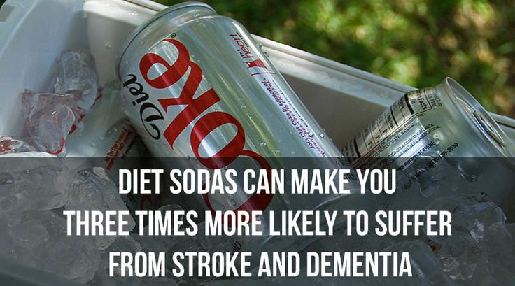 Diet Sodas Can Make You Three Times More Likely to Suffer from Stroke and Dementia