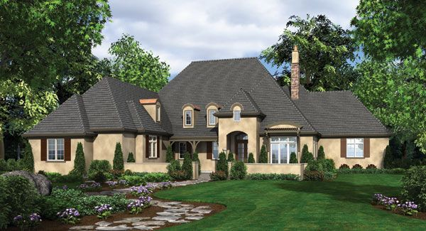20 Home Plans with a Great Indoor/Outdoor Connection French Country French Country Home Designs Courtyards on french country home 2 000 sf, french country plans, french country home designs, french country landscaping, french country style homes,