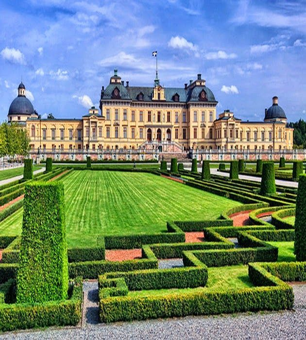 Drottningholm Palace on the island of Lovo is a Unesco World Heritage site and lies about 11km west of Stockholm city center dating from 17 century, the palace is now the official residence of the Swedish Royal Family