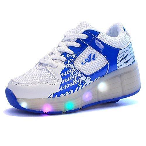 Oferta: 29.99€. Comprar Ofertas de Sollomensi Zapatillas con Ruedas Sola Ronda Para Skate Zapatos Deportivas con Luces LED Niños Mujer Hombre-Azul 32 barato. ¡Mira las ofertas!