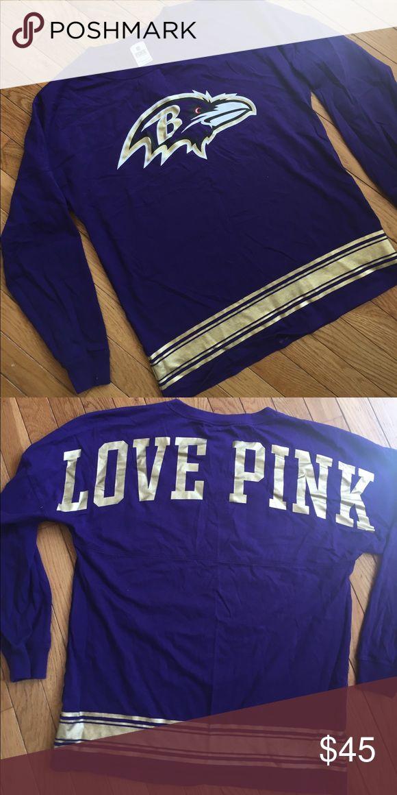 3328006b0 ... Mens Baltimore Ravens NFL Pro Line Black Team Lockup T-Shirt Victorias  Secret PINK Ravens ...