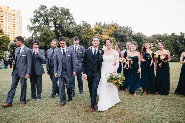 gray + navy bridal party | Ryan Price