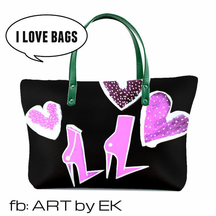 art by Erika Kovarikova  bag fashion print design