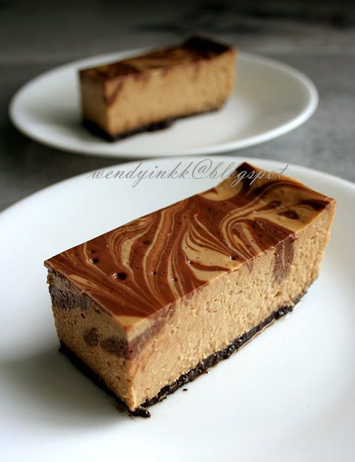 Coffee Marble Cheesecake recipe (Baked Cheesecakes)!!!!!-
