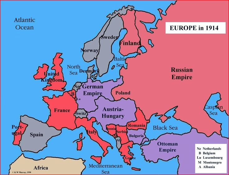 Simple map of europe for children