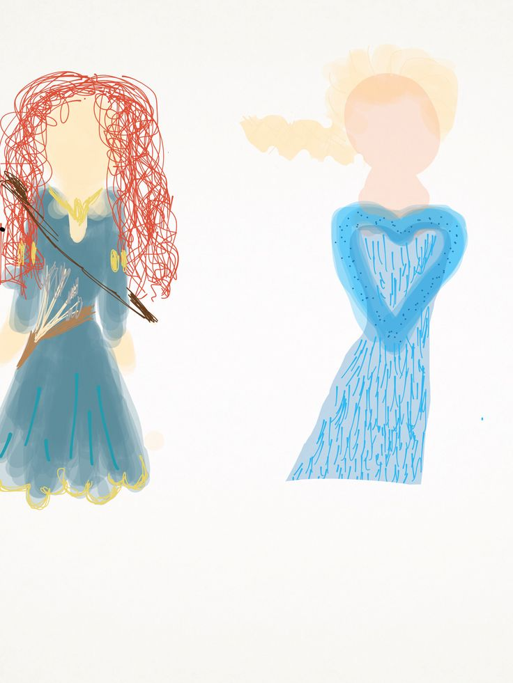 The disney princesses Elsa and Merida