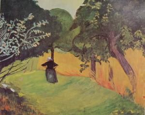 Breton dans le champ de blé vert - Paul Sérusier - The Athenaeum