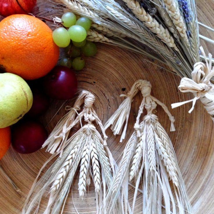 Corn dolly. Pagan/ Wiccan Harvest Corn Goddess. Wheat Altar Amulet.. Mabon
