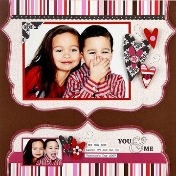 Play with Decorative-Edge Paper for an Artistic Valentine's Day Scrapbook Page