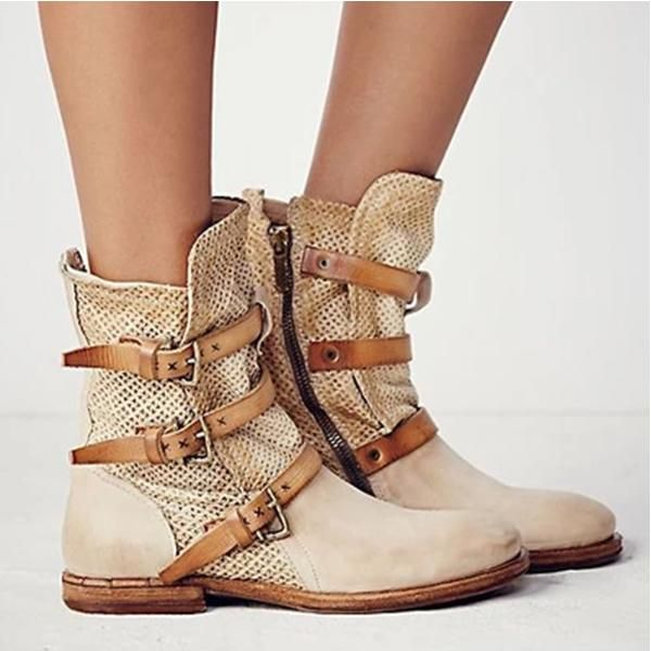Casual Flat Heel Boots – monyberry
