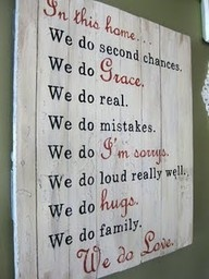 change up the fonts.: Wall Art, Home Signs, Wood Signs, Front Doors, My Families, In This House, Old Doors, Houses Rules, Families Mottos