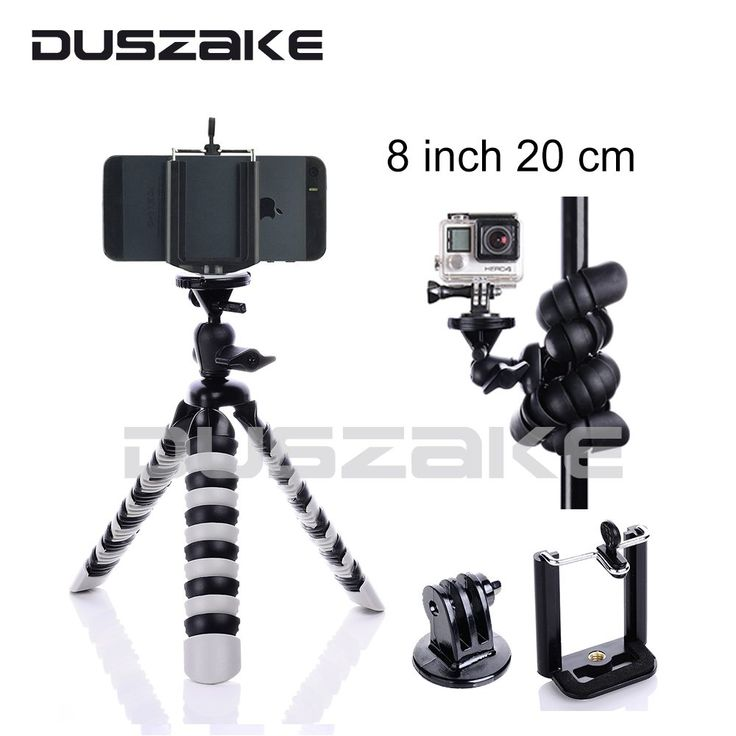 "Mini Mobile Phone Stand Tripod Flexible Octopus Desktop holder Mount Tripod Gorillapod 8"" for iPhone 7 Huawei GoPro camera //Price: $9.31//     #shop"
