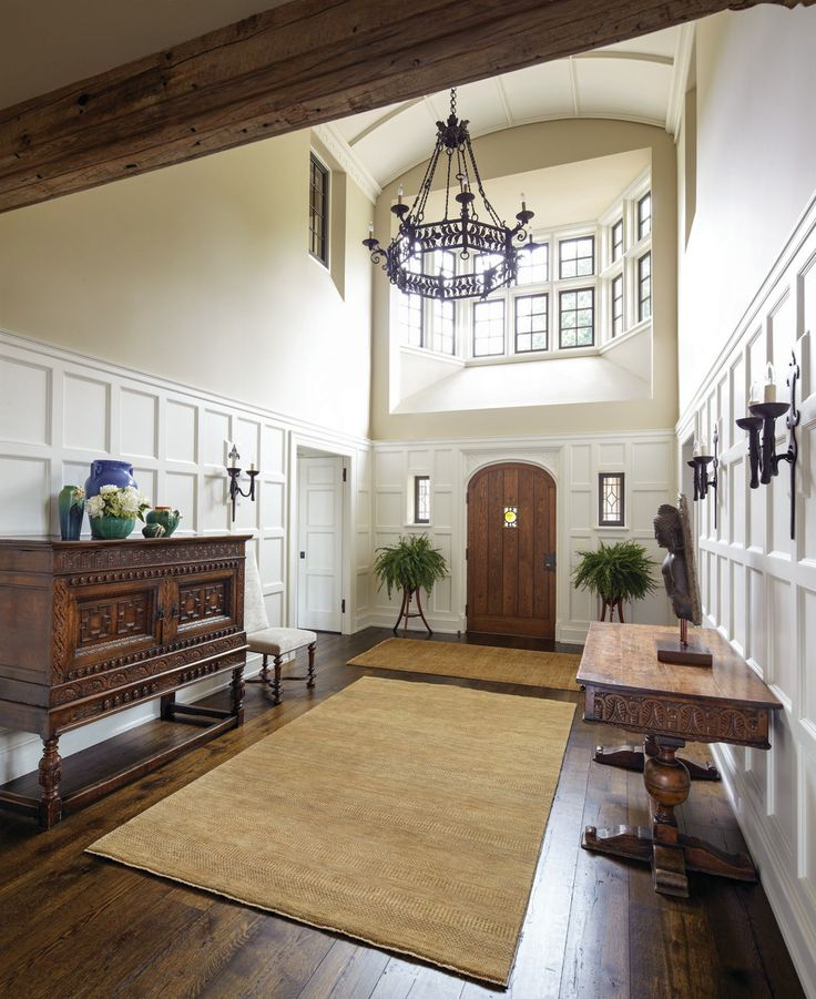 Tudor Style New Old House | Hallway | Wainscoting styles ...