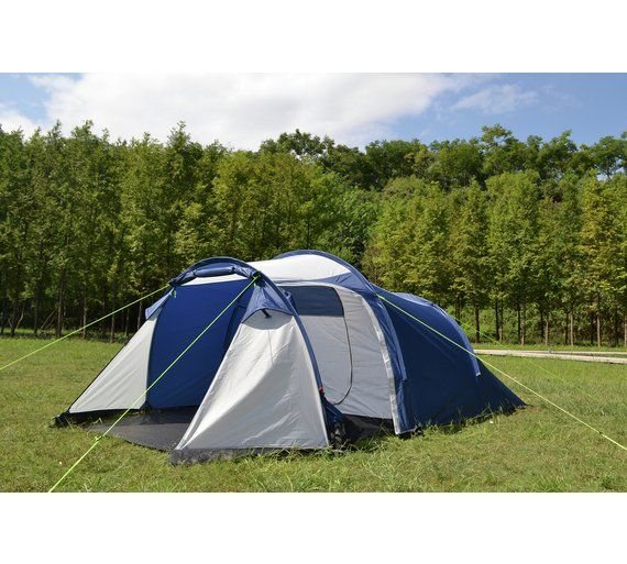 Buy Trespass 4 Man 1 Room Tunnel Camping Tent | Camping and