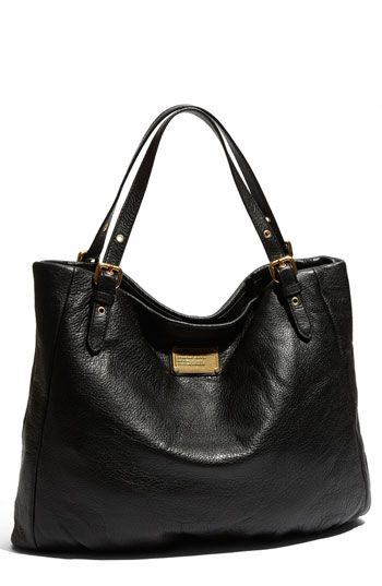 "Marc by Marc Jacobs ""Classic Q-Shopgirl"" leather tote...ah, there she is.  The PERFECT black purse."