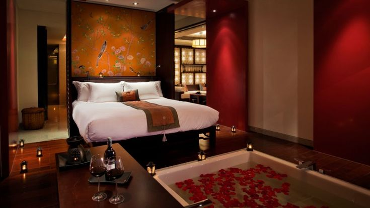 Modern asian themed bedroom bedroom ideas pinterest for Romantic master bedroom designs