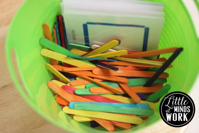 Use fine motor skills to match the designs with the materials.