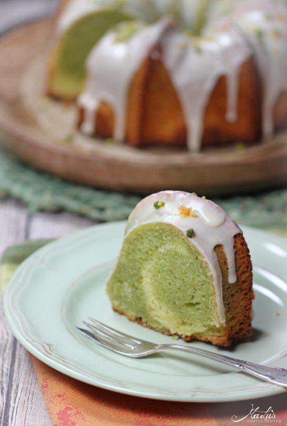 Pistazien-Orangen Marmorkuchen   MaLu's Köstlichkeiten // Pistachio orange marble cake