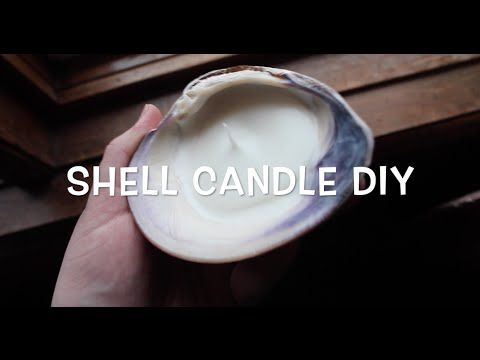 DIY seashell candle tutorial- sea witch, pagan, wiccan crafts! - YouTube