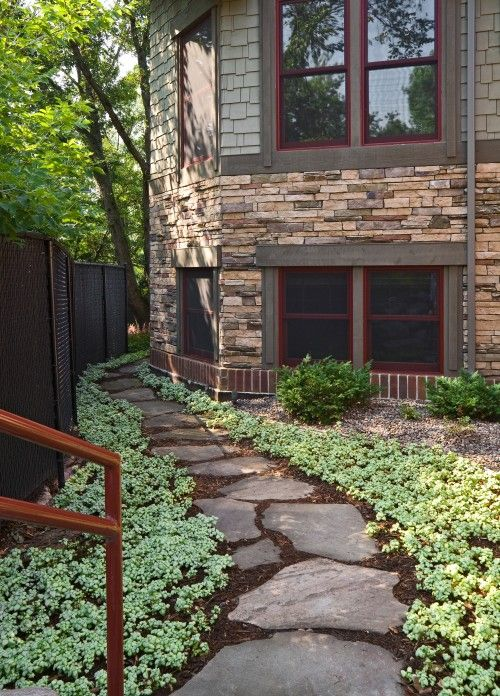 side yard path  Garden walkways and path ideas