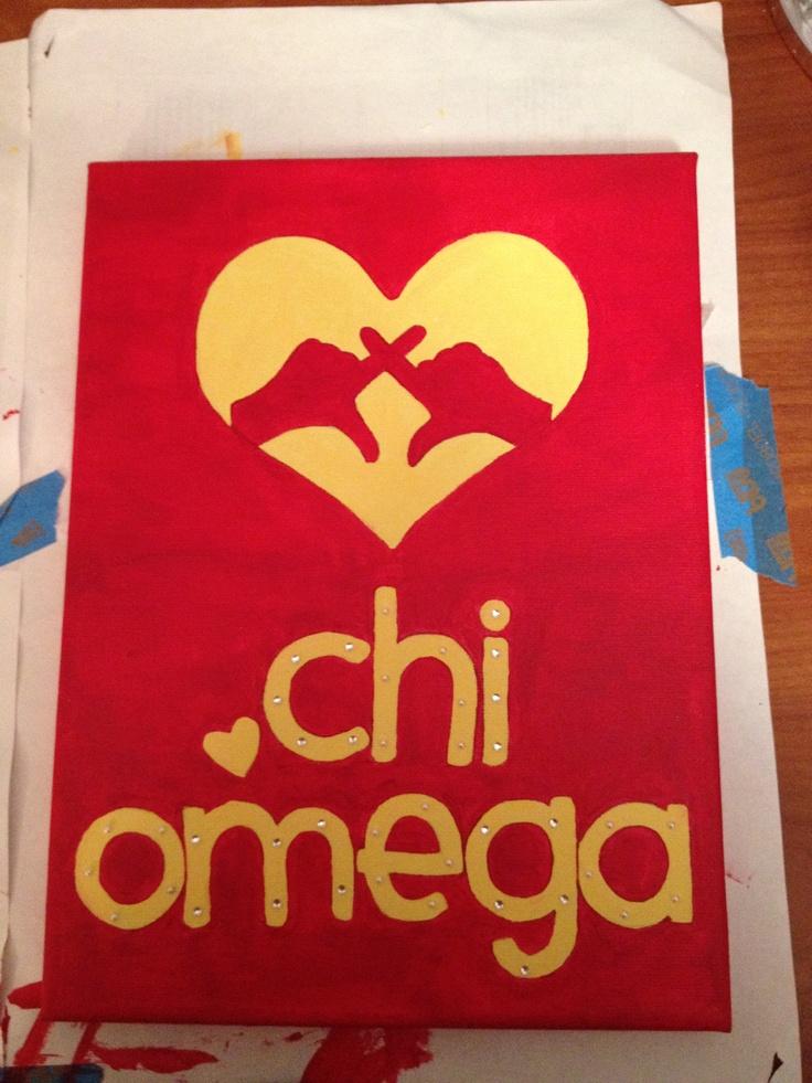 Chi O crafts! (Do AOII hand sign)