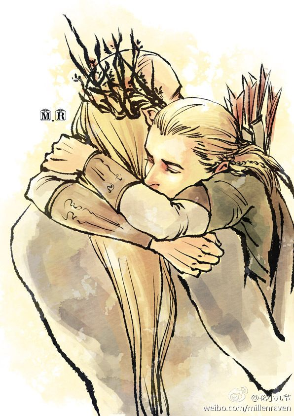 Thranduil and Legolas by 花小九爷 (by millenraven).