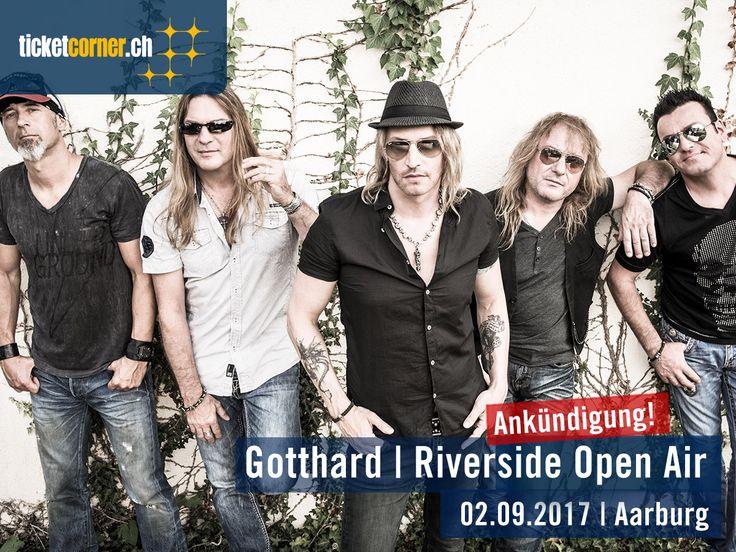 Die erfolgreichste Rock Band der Schweiz «Surprise Act» Gotthard live am Riverside Aarburg! Tickets gibt's bei Ticketcorner!