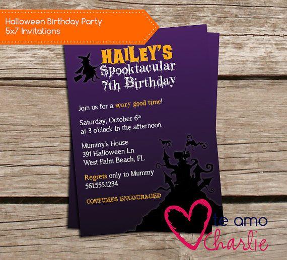 Spooktacular Halloween Birthday Party Invitations #halloweenbirthday