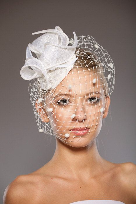 Bridal Cocktail Hat Hatinator Off White Comb by EllaGajewskaHATS, £139.00