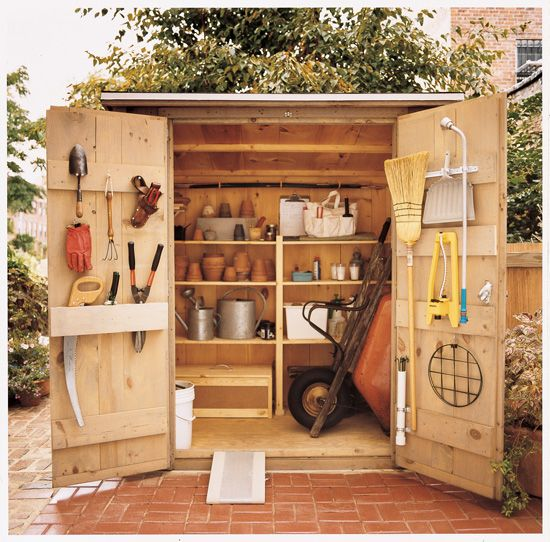 Best 25 tool sheds ideas on pinterest ego tools tool shed organizing and small garden tools - Build toolshed protect gardening tools ...