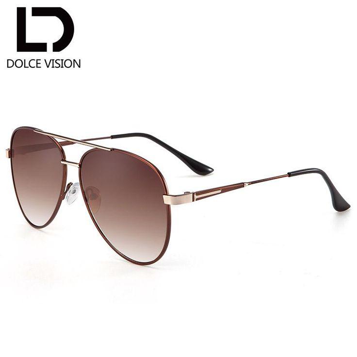 DOLCE VISION Big Size Pilot Silver Mirror Sunglasses Women Fashion Design For Men Unisex Eyewear Lunette Femme 2018
