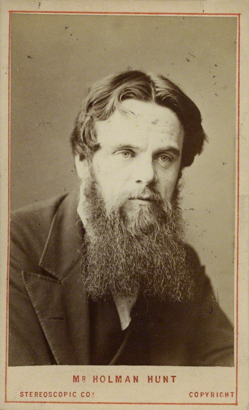 William Holman Hunt, c1865, by London Stereoscopic and Photographic Company. Albumen carte-de-visite. National Portrait Gallery. Given by an anonymous donor, 1939