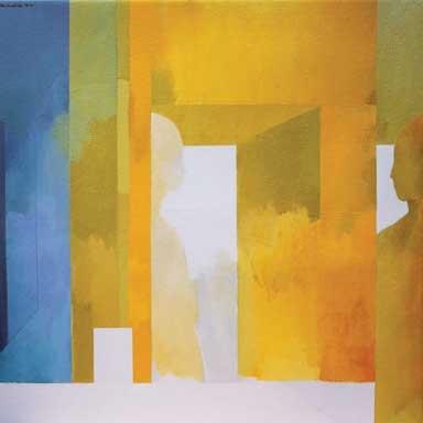 Interior with Figures 1996-2000 John Drawbridge