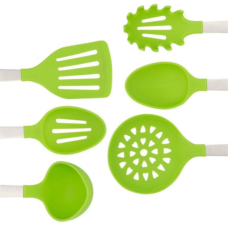 Green Silicone Kitchen Utensils Sets