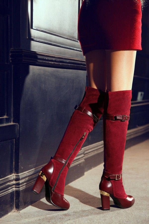 17 Best Images About Chic Burgundy Boots