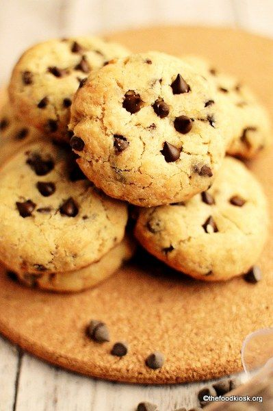 Soft Baked Eggless Chocolate Chip Cookies