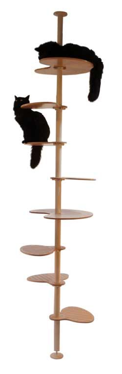 Elevation cat tree - using Ikea parts.  I feel like I should be able to make this myself for cheaper.    But this would be one way to get my cats to the top of the bookshelf (for dusting purposes ;) ).