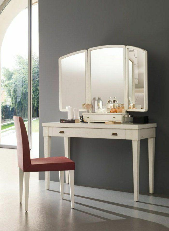 jolie coiffeuse avec miroir 40 id es pour choisir la meilleure pi ces de monnaie et ikea. Black Bedroom Furniture Sets. Home Design Ideas