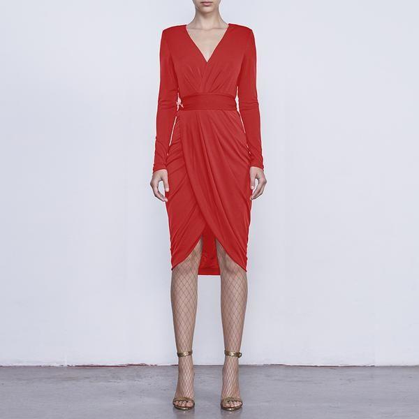 Vestido Lana Rojo FW16