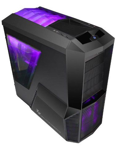 PURPLE LED Zalman Z11 Plus High Performance Mid Tower Gaming Case - No PSU: Amazon.co.uk: Computers & Accessories