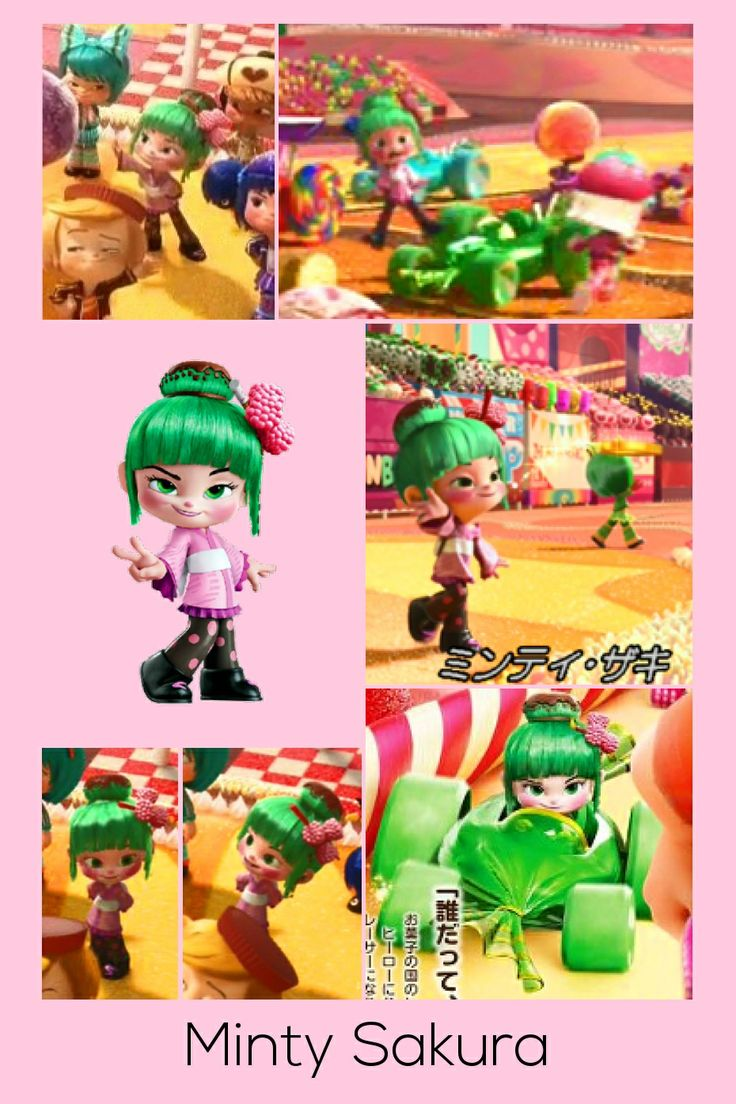 Minty Sakura Racer Of All Racers Sugar Rush Collages
