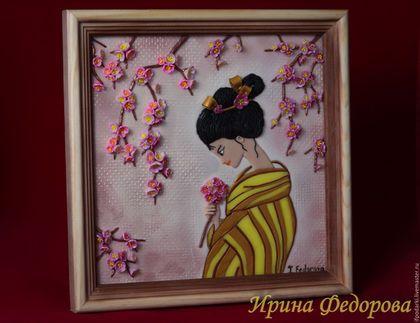 """Картины цветов ручной работы. Ярмарка Мастеров - ручная работа. Купить Картина """"Цветение сакуры"""". Handmade. Розовый, цветение сакуры"""