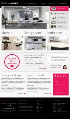 JM-Exclusive-Furniture, pink template version