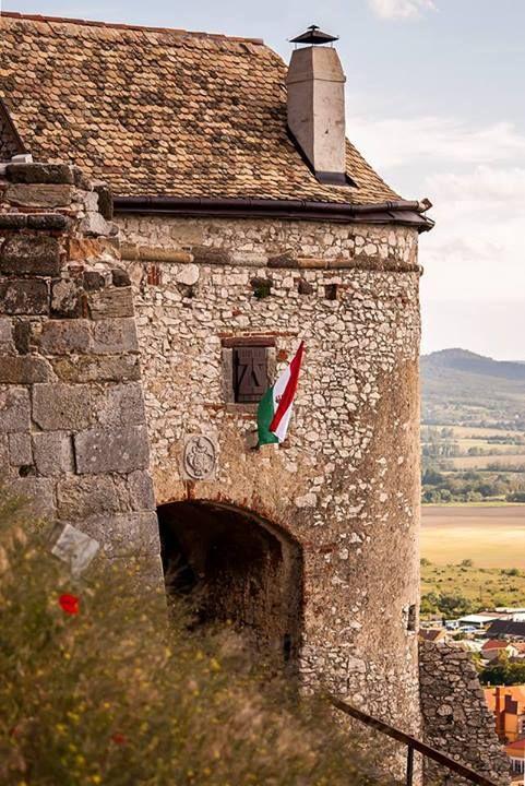Entrance to Sümeg Castle, Hungary